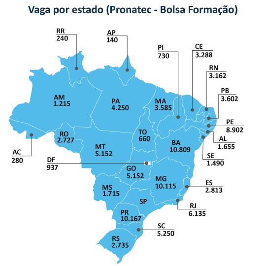 Mapa vagas Pronatec