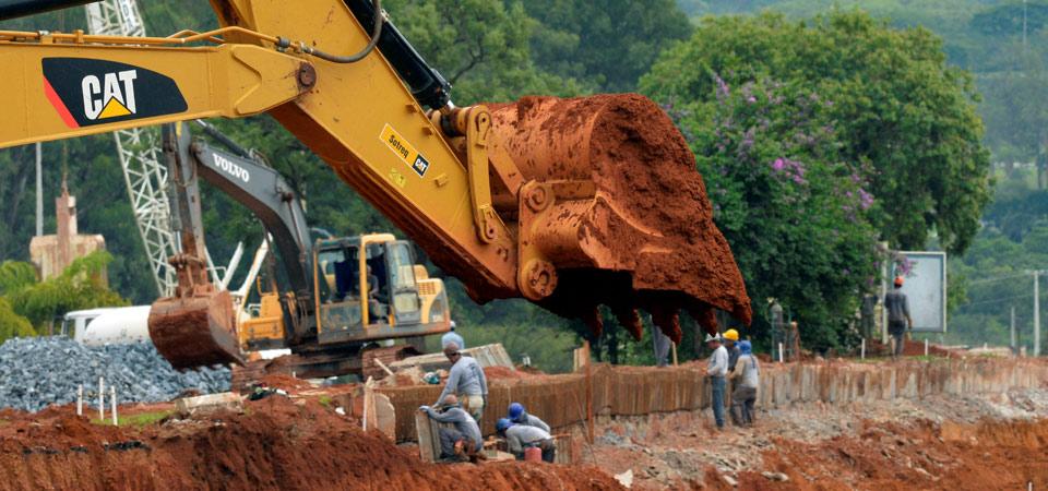 obra de infraestrutura