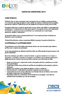 Carta da Indústria 2015